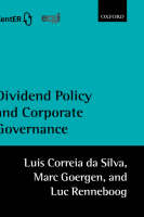 Dividend Policy and Corporate Governance (Hardback)