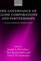 The Governance of Close Corporations and Partnerships: US and European Perspectives (Hardback)