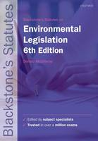 Blackstone's Environmental Legislation