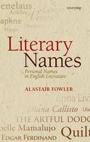 Literary Names: Personal Names in English Literature (Hardback)