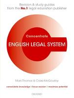 English Legal System Concentrate: Law Revision and Study Guide - Concentrate (Paperback)