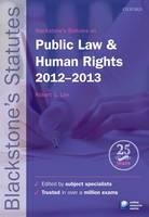 Blackstone's Statutes on Public Law & Human Rights 2012-2013 - Blackstone's Statute Series (Paperback)
