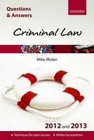 Q & A Revision Guide: Criminal Law 2012/2013 - Law Questions & Answers (Paperback)
