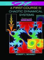 A First Course In Chaotic Dynamical Systems: Theory And Experiment (Hardback)