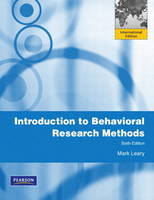 Introduction to Behavioral Research Methods (Paperback)