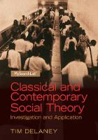 Classical and Contemporary Social Theory: Investigation and Application (Paperback)