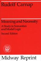 Meaning and Necessity - Phoenix Books (Paperback)
