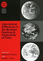 International Differences in the Business Practices and Productivity of Firms - (NBER) National Bureau of Economic Research Conference Reports (CHUP) (Hardback)
