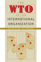 The WTO as an International Organization (Paperback)