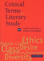 Critical Terms for Literary Study, Second Edition - Critical Terms (Paperback)