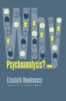 Why Psychoanalysis? - European Perspectives: A Series in Social Thought and Cultural Criticism (Paperback)