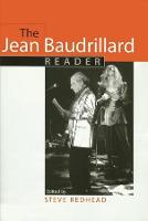 The Jean Baudrillard Reader - European Perspectives: A Series in Social Thought and Cultural Criticism (Hardback)