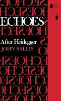 Echoes: After Heidegger - Studies in Continental Thought (Hardback)