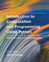 Introduction to Computation and Programming Using Python: With Application to Understanding Data - The MIT Press (Paperback)