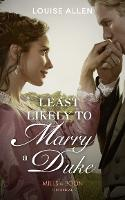 Least Likely To Marry A Duke (Paperback)
