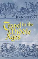 Travel in the Middle Ages (Hardback)