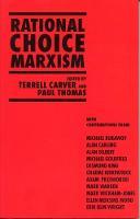 Rational Choice Marxism (Paperback)