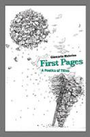 First Pages: A Poetics of Titles (Hardback)
