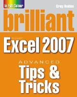 Brilliant Microsoft Excel 2007 Tips & Tricks (Paperback)