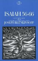 Isaiah 56-66 - Anchor Bible Commentary  (YUP) (Hardback)