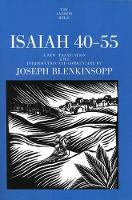 Isaiah 40-55 - Anchor Bible Commentary  (YUP) (Paperback)