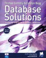 Database Solutions: A step by step guide to building databases (Paperback)