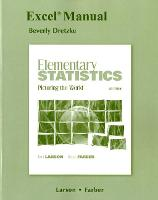 Excel Manual for Elementary Statistics: Picturing the World (Paperback)