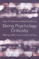 Doing Psychology Critically: Making a Difference in Diverse Settings (Paperback)