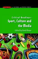 Critical Readings: Sport, Culture and the Media (Paperback)