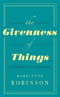 The Givenness Of Things (Hardback)