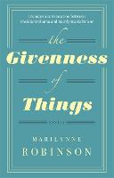 The Givenness Of Things (Paperback)