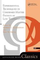 Experimental Techniques In Condensed Matter Physics At Low Temperatures (Hardback)