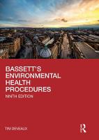 Bassett's Environmental Health Procedures (Hardback)