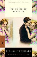 This Side of Paradise - Modern Library Classics (Paperback)