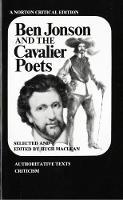 Ben Jonson and the Cavalier Poets - Norton Critical Editions (Paperback)