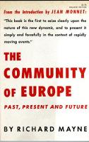 The Community of Europe: Past, Present and Future (Paperback)