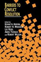 Barriers to Conflict Resolution (Paperback)