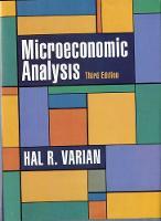 Microeconomic Analysis