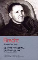"""Brecht Collected Plays: """"Visions of Simone Machard"""", """"Schweyk in the Second World War"""", """"Caucasian Chalk Circle"""", """"Duchess of Malfi"""" v.7 - World Classics (Paperback)"""