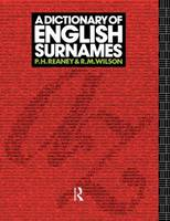 A Dictionary of English Surnames (Hardback)