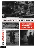 Finance Against Poverty: Volume 1 (Paperback)