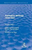 Formative Writings (Paperback)
