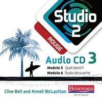 Studio 2 Rouge Audio CD C (11-14 French) - Studio 11-14 French (CD-Audio)
