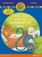 Jamboree Storytime Level B: The Cat and the Monkey's Tail Activity Book with Stickers - Jamboree Storytime