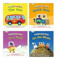 Learn to Read at Home with Alphablocks: Pack 2 (Pack of 4 fiction books) - Phonics Bug (Paperback)