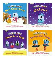 Learn to Read at Home with Alphablocks: Phase 3/4 - Reception terms 2 and 3 (4 fiction books) - Phonics Bug