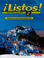 Listos! 2 Resource and Assessment File - Listos for 11-14