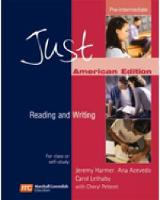 Just Reading and Writing Pre-Intermediate (AME) (Paperback)