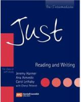 JUST READING & WRITING BRE PRE-INT STUDENT BOOK (Paperback)