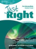Just Right Pre-Intermediate: Class Audio CD (CD-ROM)